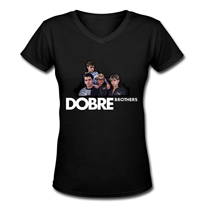 de22468684b6 Amazon.com  New Women s Lucas and Marcus Dobre YouTube Ladies V Neck ...
