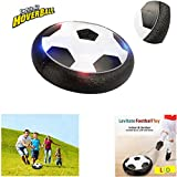 Kids Hover Ball Toys Air Power Soccer Disc Air Soccer Football Training Ball with LED Lights and Foam Bumpers for Boys Girls Indoor Outdoor Disk Game Birthday Christmas Gifts by AENMIL(Black)