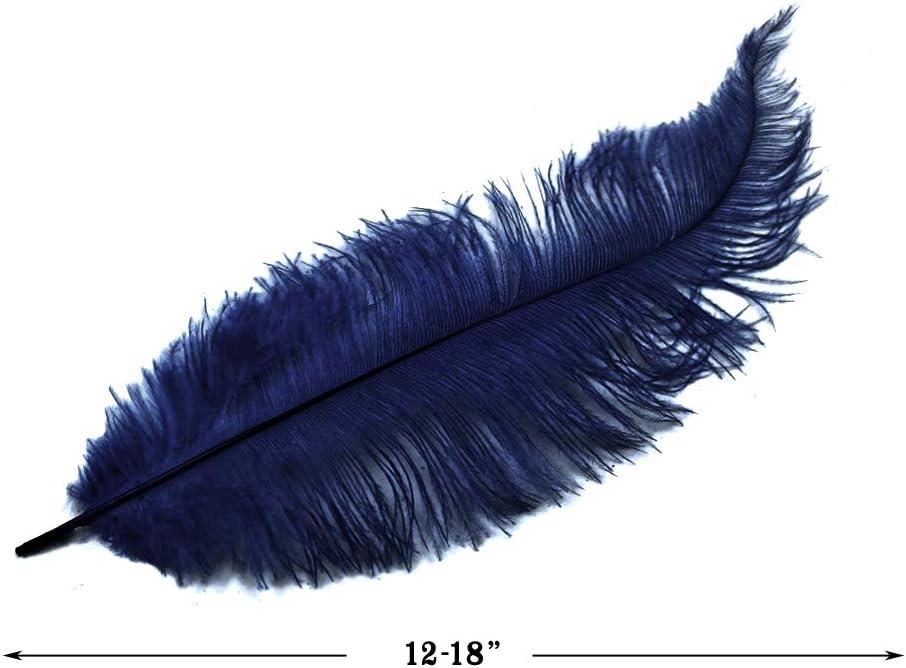 20 piezas – azul marino Mini Spads plumas de avestruz de peluche ...