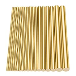 Glarks 18Pcs Brass Solid Round Rod Lathe...