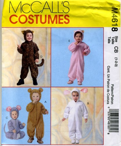 McCall's Sewing Pattern 4618 Boys Girls Size 1-3 Jumpsuit Costumes