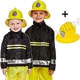 Blue Planet Fancy Dress  3-9 Childrens Kids Boys Fireman Fire Fighter Fancy Dress Costume & Helmet (Medium 7-9 Years)
