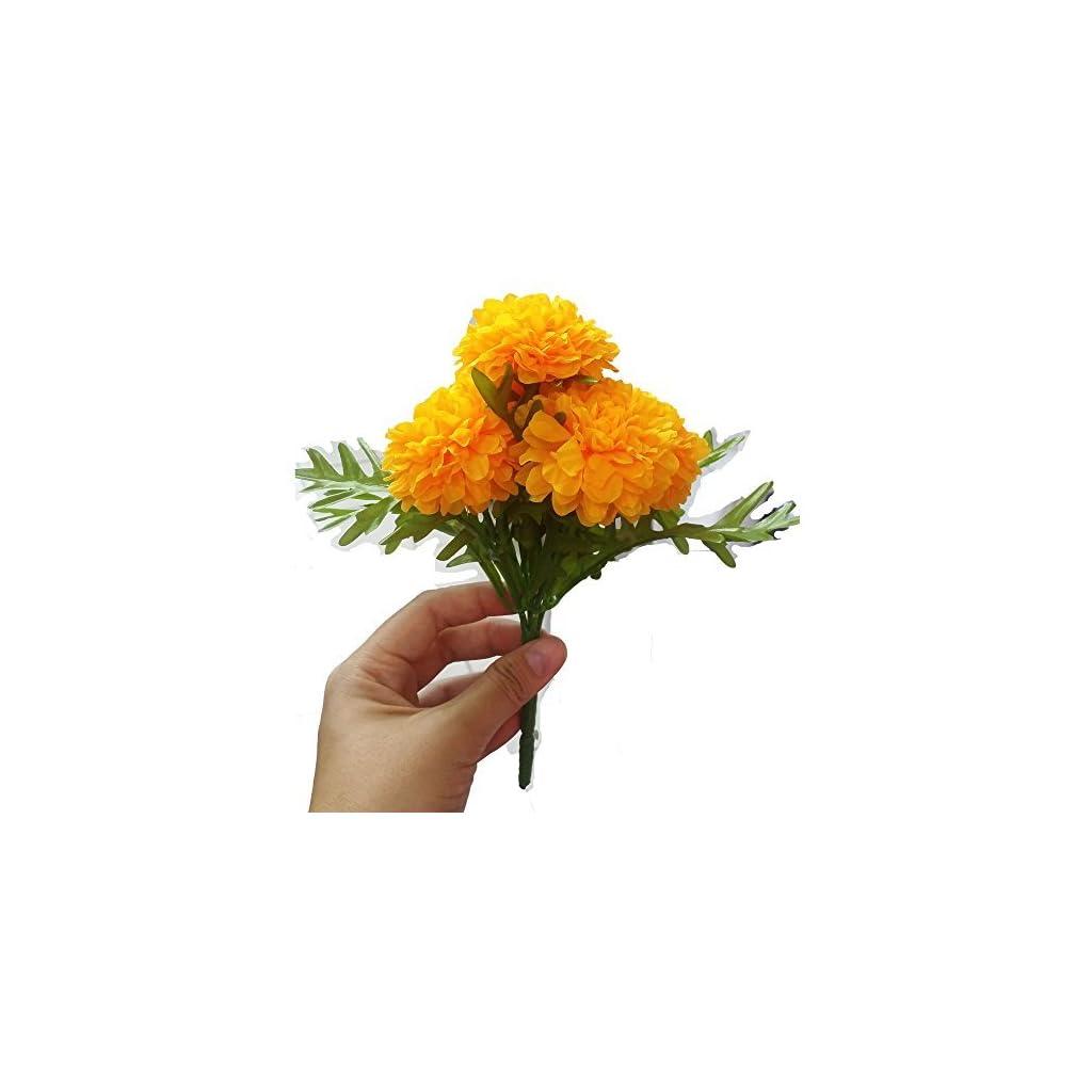 Pack-of-3-Thai-Artificial-Yellow-Marigold-Bunch-Artificial-flowers-Marigold-Flowers-Yellow-Flower-Marigold-Yellow-Calendula-officials-5-stem-per-1-case