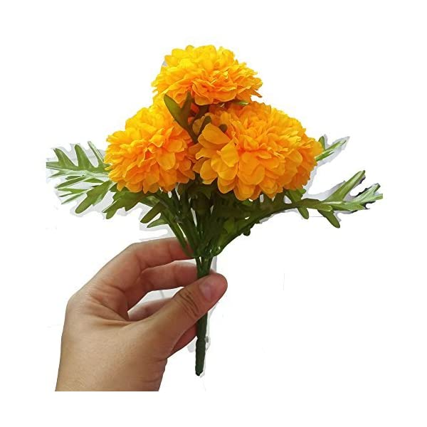 Pack-of-3-Thai-Artificial-Yellow-Marigold-Bunch-Artificial-flowers-Marigold-Flowers-Yellow-Flower-Marigold-Yellow-Calendula-officials-5-stem-per-1-case