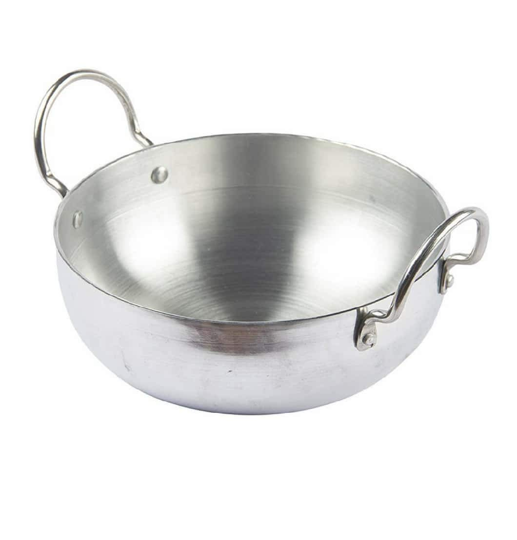 Tanish Trading TMT Induction Kadai Aluminium 4mm 3500 ml,Frying pan/kadai,Big Cookware with Handle Home Products