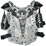 Fly Racing Convertible II Youth Boys Roost Deflector Off-Road/Dirt Bike Motorcycle Body Armor - Clear/Silver / Mini