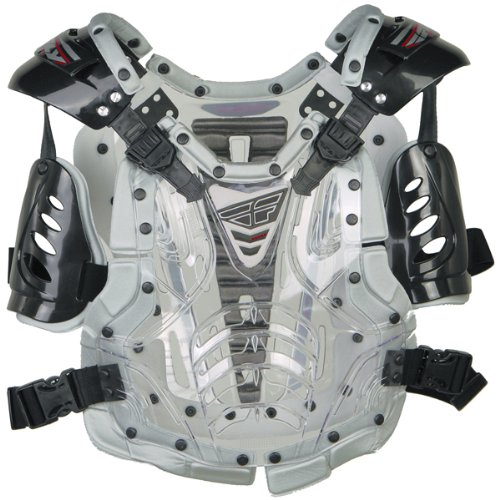 - Fly Racing Convertible II Youth Boys Roost Deflector Off-Road/Dirt Bike Motorcycle Body Armor - Clear/Silver / Mini