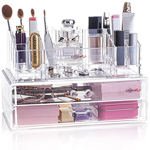 Choice Fun Acrylic Makeup Organizer 3 Drawers Jewelry dis...