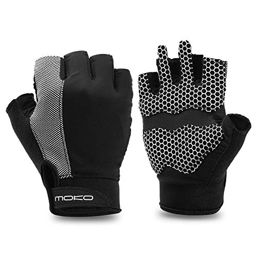 MoKo Workout Gloves for Women Men, Breathable Exercise Gloves Wrist Support Full Palm Protection Extra Grip Gloves for…