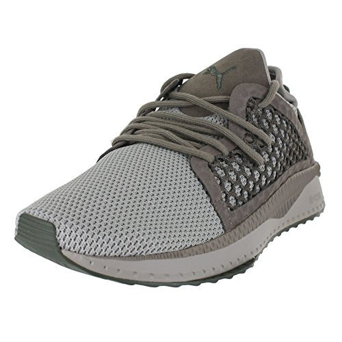 PUMA Men's Tsugi Netfit Sneaker, Rock Ridge-Falcon-Olive Night, 10.5 M US