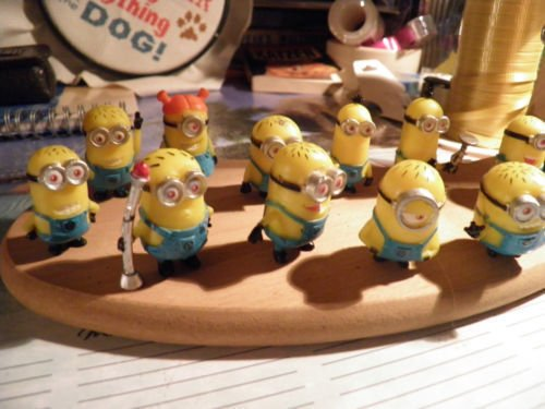 New Set of 12Pcs Despicable Me 2 Cute Minions Movie Character Figures Doll Toy (Despicable Me 2 Agnes Unicorn Costume)