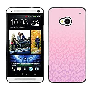 For HTC One M7,S-type® Pattern Pink Purple Bright Clean - Arte & diseño plástico duro Fundas Cover Cubre Hard Case Cover