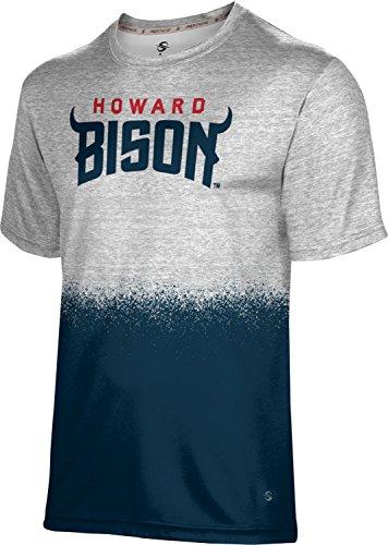 ProSphere Howard University Men's Performance T-Shirt (Spray Over) FED0 White and Blue