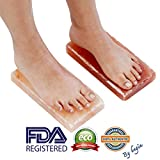 "New Himalayan Salt Block Detox for Foot (Set of Two) (Size 8"" x 4"" x 2"") with Instructions"