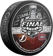 Inglasco 2021 Stanley Cup Finals Lightning vs Canadiens Dueling Souvenir Hockey Puck
