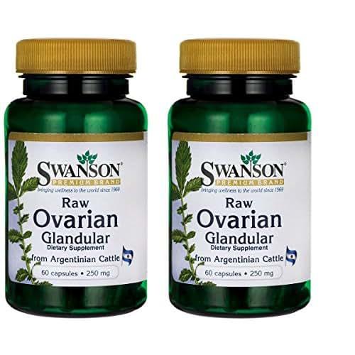 Swanson Ovarian Glandular 250 mg 60 Caps 2 Pack