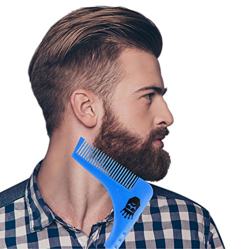THE BEARD KING - Beard Shaping Tool Stencil for Men, Facial Hair Styling, Best Men's Grooming and Beard Shaping Template