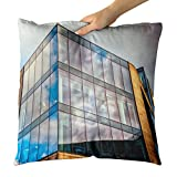 Westlake Art - Building Commercial - Decorative Throw Pillow Cushion - Picture Photography Artwork Home Decor Living Room - 14x14 Inch
