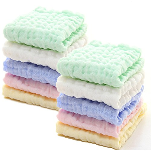 Baby Muslin Washcloths - Natural Muslin Cotton Baby