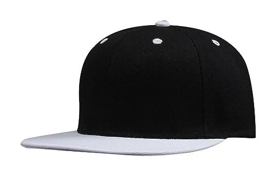 Cool Cotton Baseball Cap Hip Hop Flat Brim Peaked Hat Boys Girls Black b8118112bf09