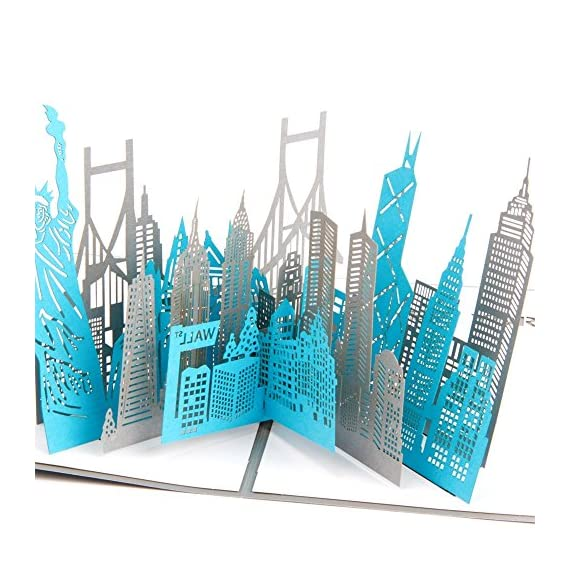 Paper Spiritz New York Silhouette Pop Up Birthday Greeting Cards Mothers Day Laser