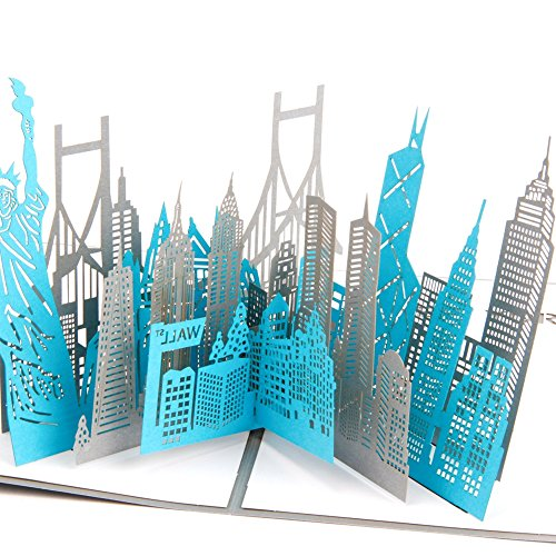 Paper Spiritz New york silhouette Big apple portrait 3D Pop up – New York Birthday Card