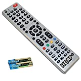 HQRP TV Remote Control for Panasonic TC-P55ST50 TC-P55ST60 TC-P55UT50 TC-P55VT30 TC-P55VT50 TC-P55VT60 LCD LED HD Smart TV 1080p 3D Ultra 4K Plasma + HQRP Coaster