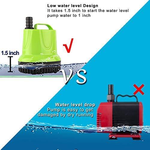 FREESEA 100W 1100GPH Submersible Sump Pump for Pond, Aquarium, Waterfall, Hydroponics, Drain Water by FREESEA (Image #3)