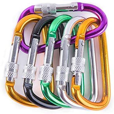TYBXK 4 tamaño Accesorios de Aluminio Snap mosquetón D-Anillo ...