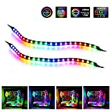 LED RGB PC Light Strip - Speclux Computer Magnetic Addressable LED Strip Kit, Motherboard with 5V 3pin RGB Header for...