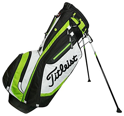 Titleist Lightweight 4-Way Stand Golf Club Bag with Backpack Strap, Lime Green by Titleist