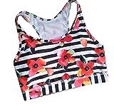 Sankthing SANKT Womens Floral Printed Yoga Leisure Vest Underwear Everyday Running Bra