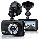 T-mars Dash Cam, Full HD 1080P Dash Cam Car Blackbox Car DVR Dashboard Camera Vehicle Camera Front G-Sensor Motion Detection Loop Video Recorder Night Vision