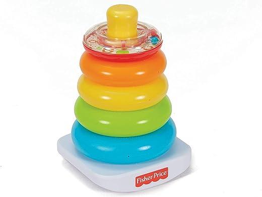 Fisher Price- Piramide 5 Anelli, Giocattolo Impilabile per Bambini 6+...