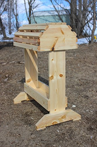 (Rustic Wooden Pine Saddle Rack W/Tray )