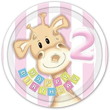 2 Geburtstag Deko Partyartikel Junge zweiter Kindergeburtstag Giraffe Zahl 2