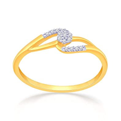 Malabar Gold and Diamonds 18KT Yellow Gold and Diamond Ring for Women Rings