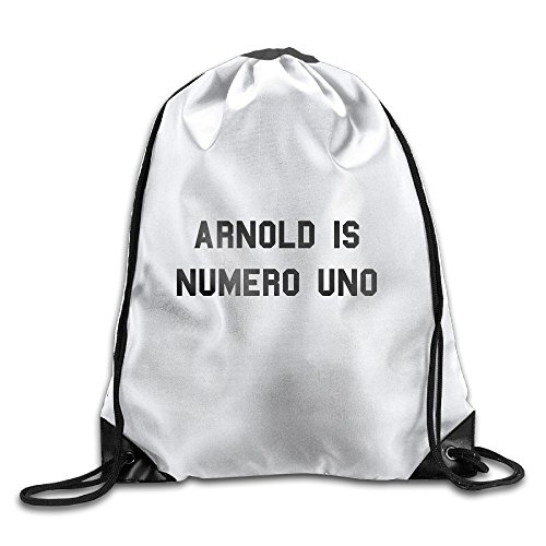 Arnolo Is Numero Uno Drawstring Backpack Sackpack Backpack For Men & Women School Travel (Numero Uno)