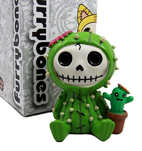 Ebros Furry Bones Desert Cacti The Prickly Cactus Costume Skeleton Monster Collectible Figurine 2.75