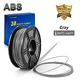 Grey ABS 3D Printer Filament,3D Print Pen Filament1.75mm ,Dimensional Accuracy +/- 0.02 mm 2.2 LBS (1KG) Spool,DAZZLE LIGHT ABS Filament