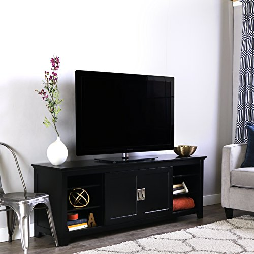 Entertainment Stand With Sliding Doors