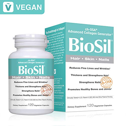 BioSil - Hair, Skin, Nails, Natural Nourishment for Your Body's Beauty Proteins, 120 Capsules (FFP) by Natural Factors (Image #9)