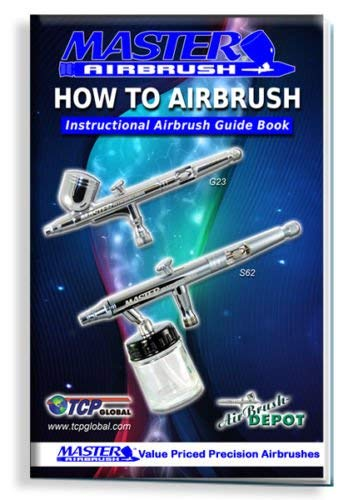 3 Master Airbrush Professional Airbrushing System Kit - Multi-Purpose G22, G25, E91 Gravity & Siphon Feed Airbrushes, Air Compressor, Holder, Color Mixing Wheel, Cleaning Brushes, How-To Guide Booklet by Master Airbrush (Image #5)