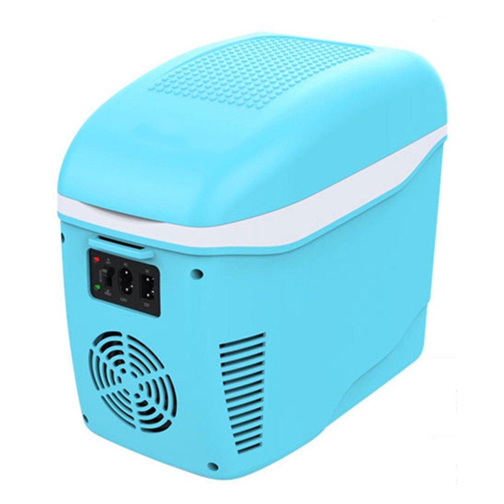 LIQICAI 6L Tragbar Mini Kühlschrank Auto Camping 12V DC Auto Tragbarer Tragegurt (Farbe : Hellblau)