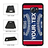 BleuReign(TM) Personalized Custom Name Baseball Texas License Plate TPU RUBBER SILICONE Phone Case Back Cover For Samsung Galaxy S8 Plus