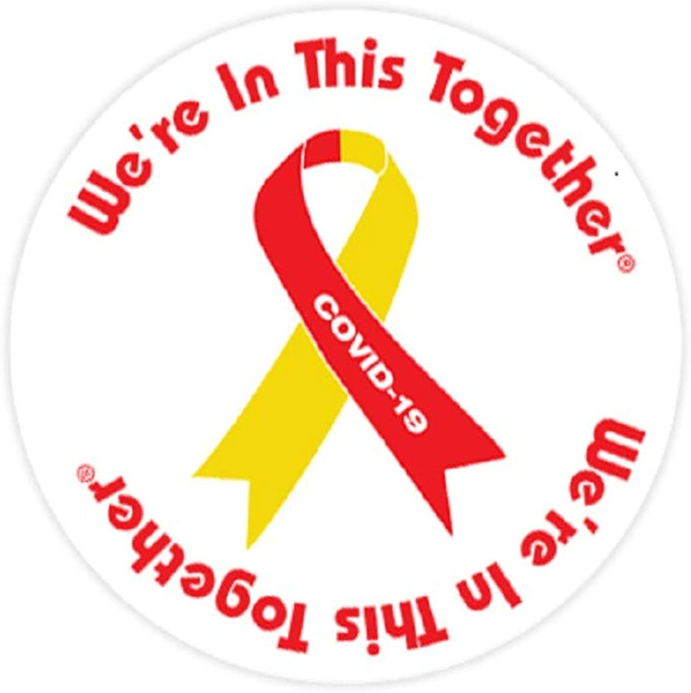 "RED AWARENESS RIBBON Novelty Button Pin Badge 1/"""