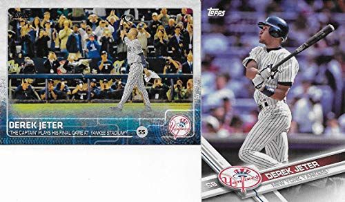 Derek Jeter 6 Card Gift Lot Containing One Each of His 2015 Topps Number 1 and 319 cards, his 2006 Topps Rookie of The Week Insert #18 of 25 which is based upon his original 1993 Topps Rookie, plus 3 additional Mint Condition Jeter New York Yankees Cards
