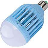 Zapplight Bug Zapper night light Dual Bright LED Light Bulb Mosquito Zapper Kids Room (Blue)