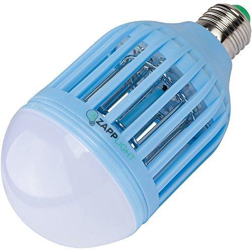 Zapplight Bug Zapper Night Light Dual Bright LED Light Bulb Mosquito Zapper Kids Room (Blue)