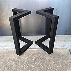 Amazoncom U shape metal legs set of 2 metal table legs bench